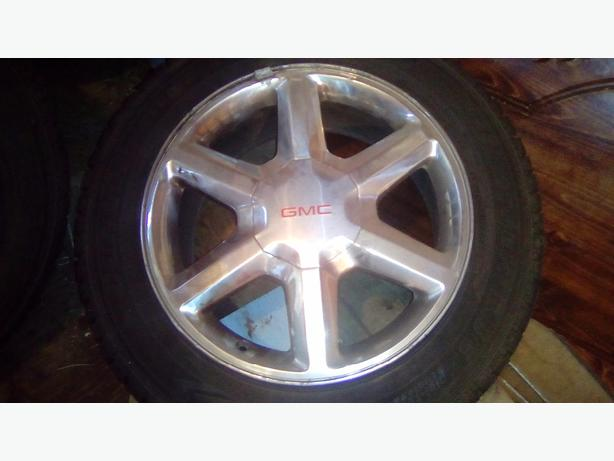 four 18' polished rims