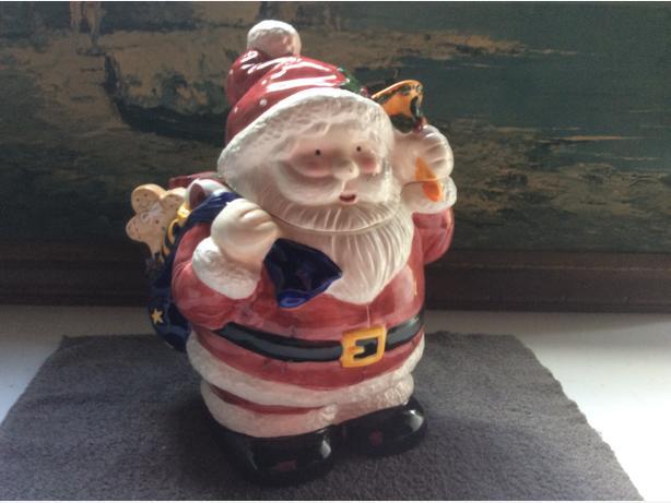 santa clause cookie jar