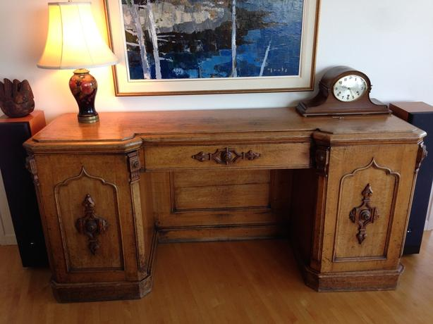 Antique carved oak sideboard