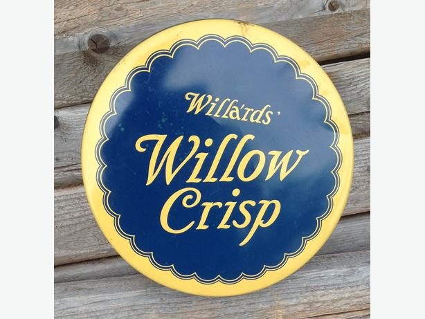 Antique 1930's Willards Willow Crisp Tin Can