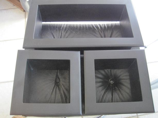 3 Brand New Black Framed Wooden Shadow Box Set