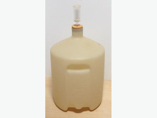 5-Gallon Plastic Carboy in Good Condition