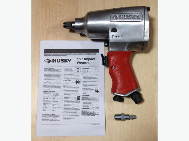 """Husky"" 1/2 in. Impact Wrench, Model HDT102 – Brand New"