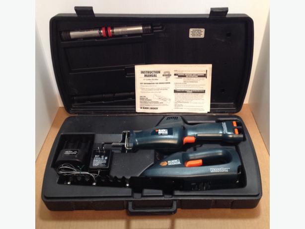 Black & Decker 7.2 V Cordless Saw and Shrub Trimmer Set – Excellent Condition