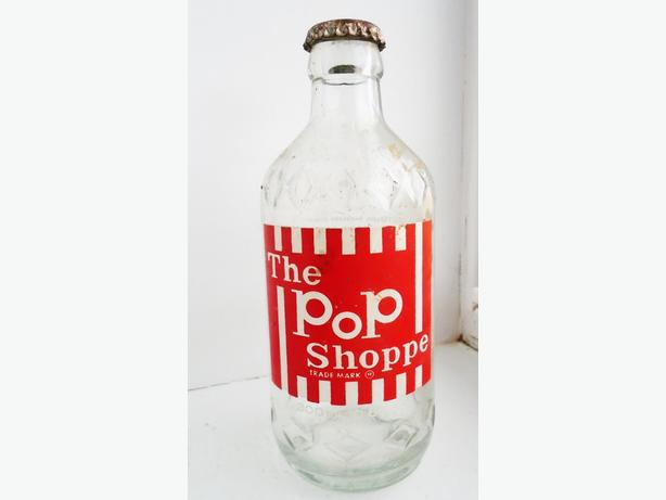 Vintage 1975's POP SHOPPE Root Beer ACL Bottle w/ Original Cap