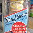 RARE 1940's MAYFLOWER EXTRACT BOTTLE W/ PAPER LABEL HALIFAX, N.S