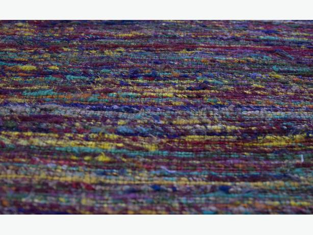 Hand woven area rug from Zone Maison - 5 x 7