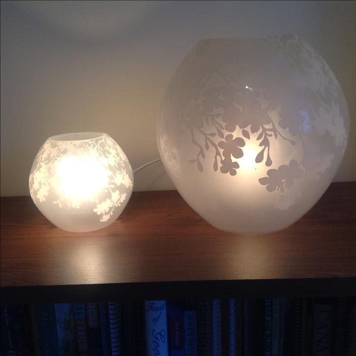 Decorators - Pair of globe lamps Oak Bay, Victoria