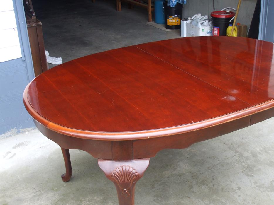 Dining room cherrywood table malahat including shawnigan for Dining room tables victoria bc