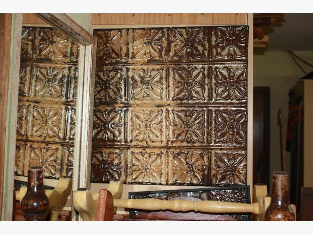 Framed Tin Ceiling Panel