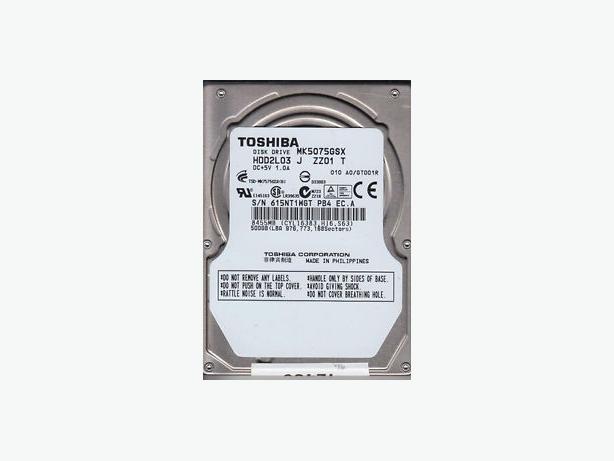 """Toshiba MK5075GSX Hard Drive 500GB 2.5"""" SATA 5.4K 5400 RPM"""