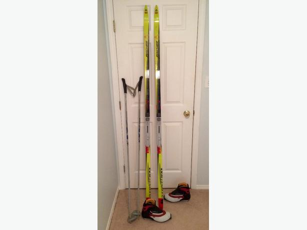 Cross Country Ski's with poles and Boots