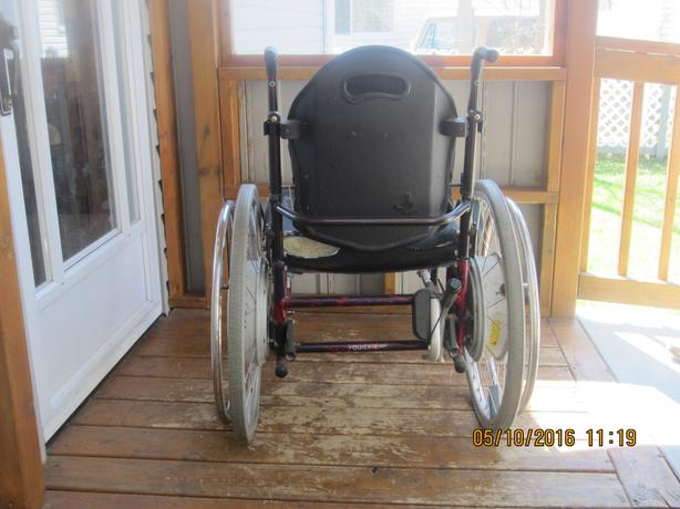 Quickie wheelchair, electric wheels