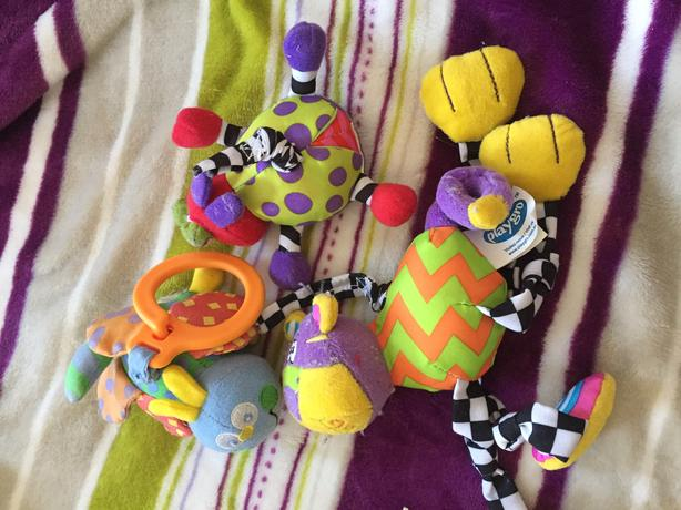 multiple types of baby toys