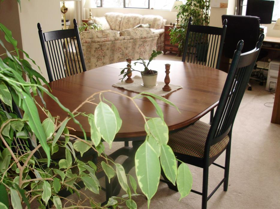 top quality shermag canadian maple dining room table with