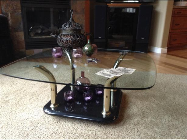 Glass Coffee Table & matching end table