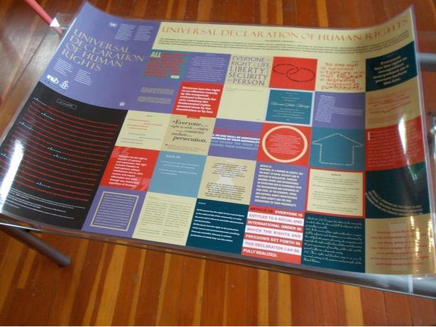 "laminated poster ""Universal Declaration of Human Rights"""