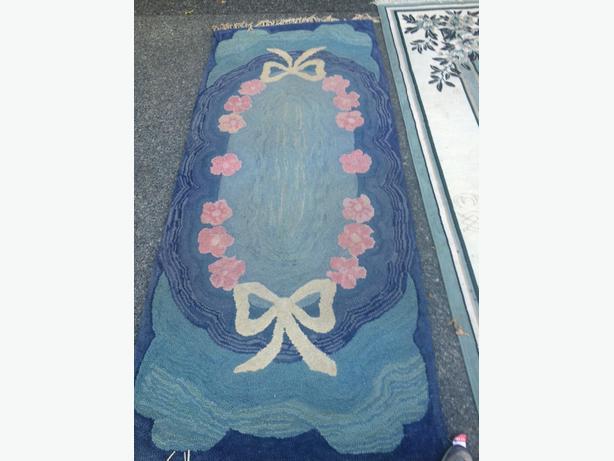 old vintage wool rug
