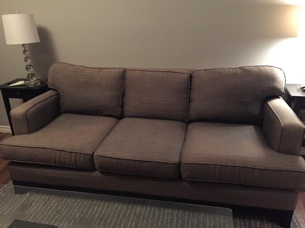 Three seater grey couch