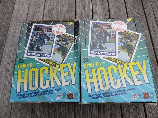 1990/91 OPC Hockey unopened wax boxes 36 count only $10!