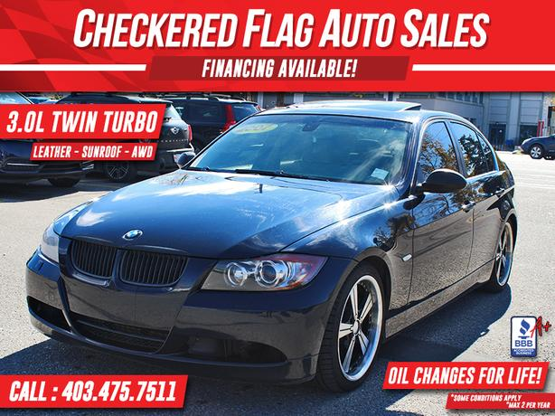 2007 BMW 335XI AWD-3.0L TWIN TURBO-S.ROOF-LEATHER