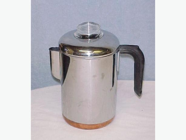 Foley 9 Cup Stovetop Camping Coffee Percolator~Black Bakelite Handle