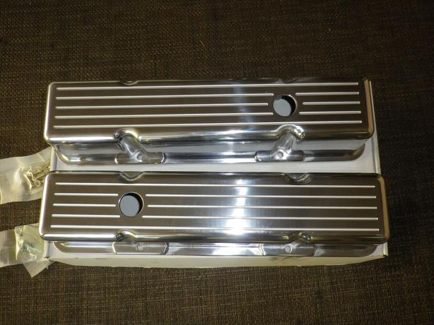 SMALL BLOCK CHEVY POLISHED ALUMINUM VALVE COVERS