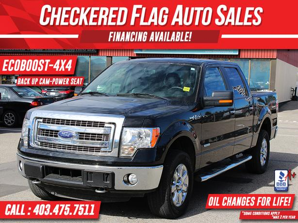 2014 FORD F-150 XLT XTR 4X4 SUPERCREW-ECOBOOST-B.UP CAM-LOW KM