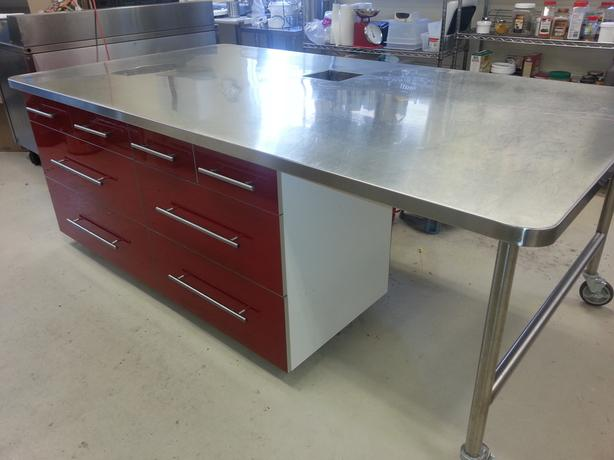 Commercial stainless steel island saanich victoria - Commercial stainless steel kitchen island ...