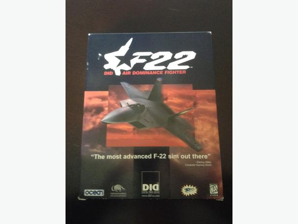 *RARE* F 22 DID Air Dominance Fighter PC Game
