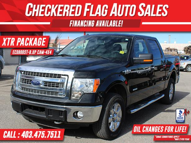 2014 FORD F-150 XLT XTR SUPERCREW 4X4-TONNEAU-B.UP CAM-ECOBOOST