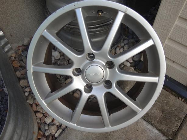 RSSW silver alloy rims