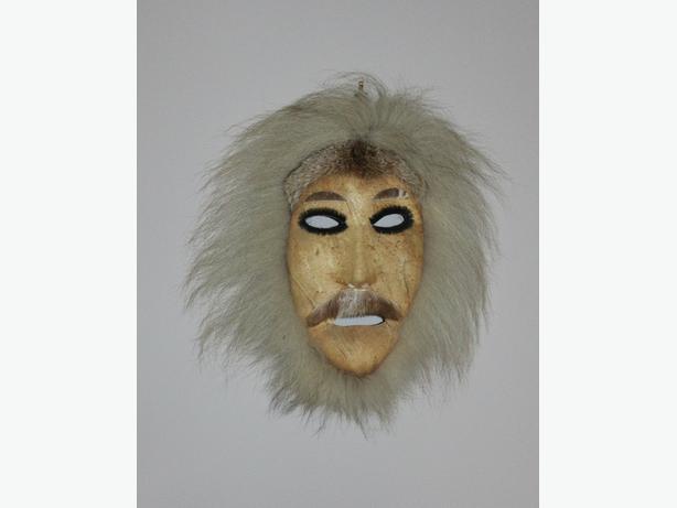 Eskimo Mask Caribou skin fur mask