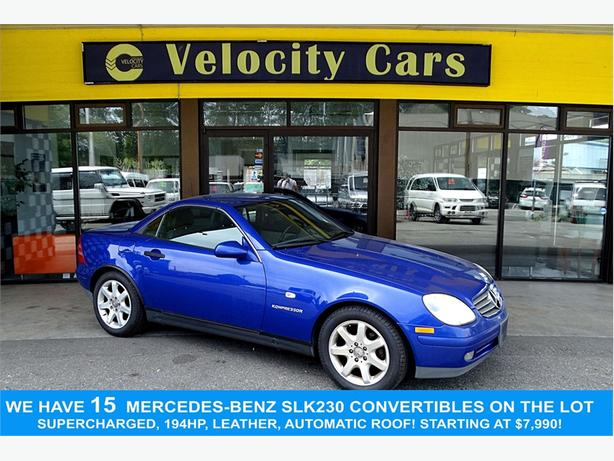1997 Mercedes-Benz SLK-Class SLK230 75K's Convertible Supercharged 194hp Leathe