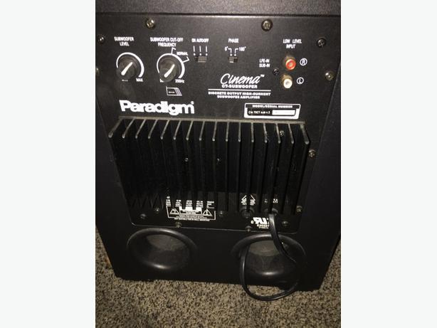 paridigm sub n speakers