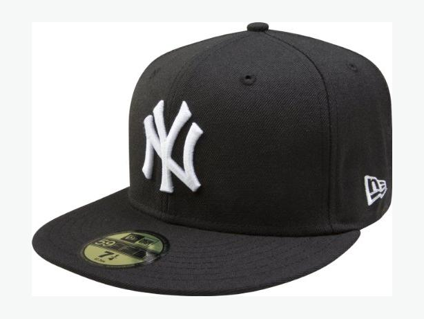 New Era MLB New York Yankees 59FIFTY Fitted Cap, Black, Size 8