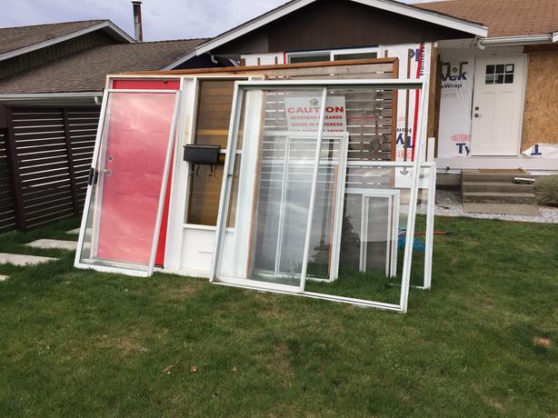 Door, slider and windows- gotta go