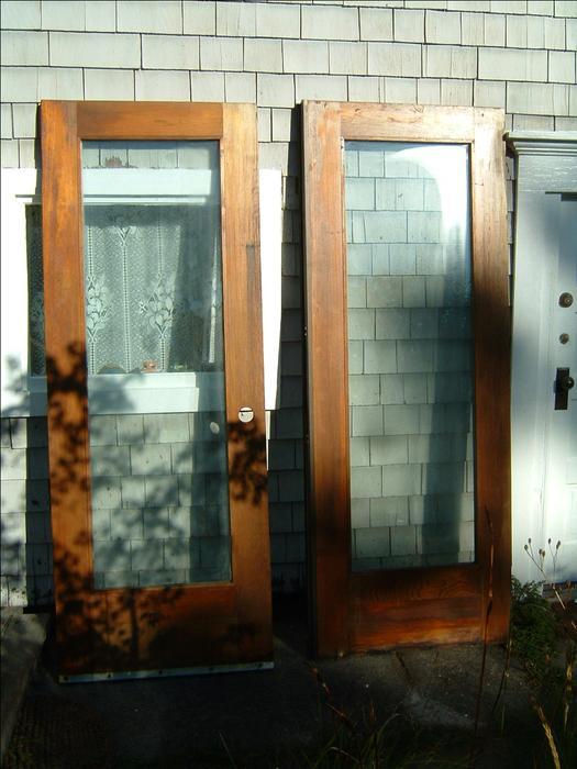 2 Fir Wood Doors With Full Length Windows Oak Bay Victoria