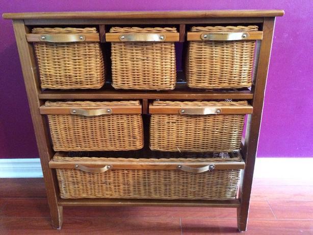 6-drawer wicker chest