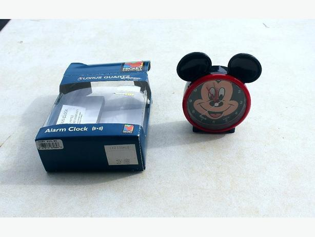 Mickey Mouse Lorus Quartz Alarm Clock