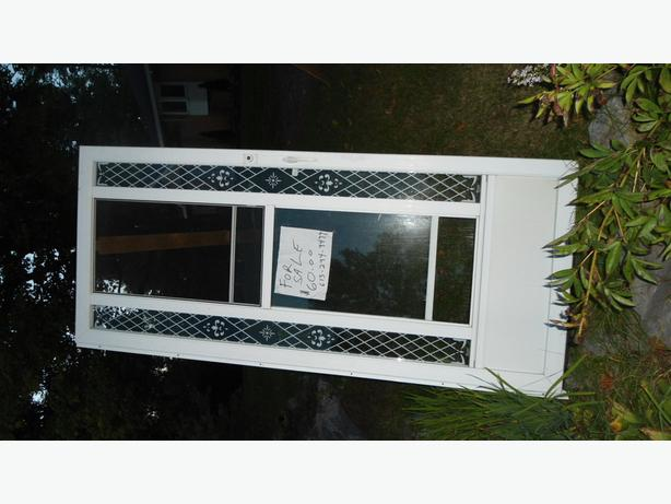 steel door and screen door