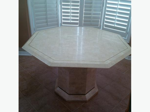 FOSSIL STONE OCTAGONAL TABLE