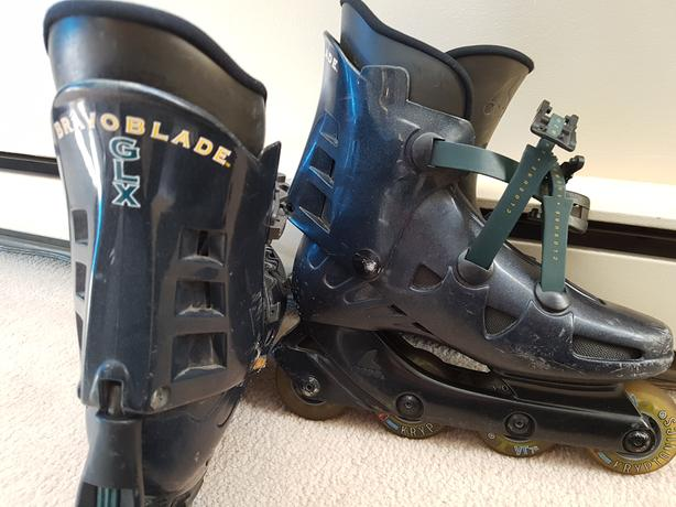 BravoBlade GLX Rollerblades-Size 8.5 + Elbow and Knee pads