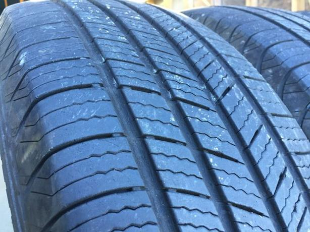 Installed and balanced Set of 4 225 65 17 Michelin defender