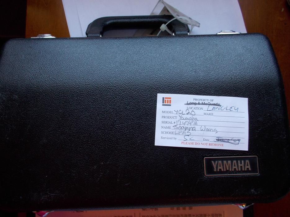 Yamaha ycl 20 clarinet saanich victoria for How much is a used yamaha clarinet worth