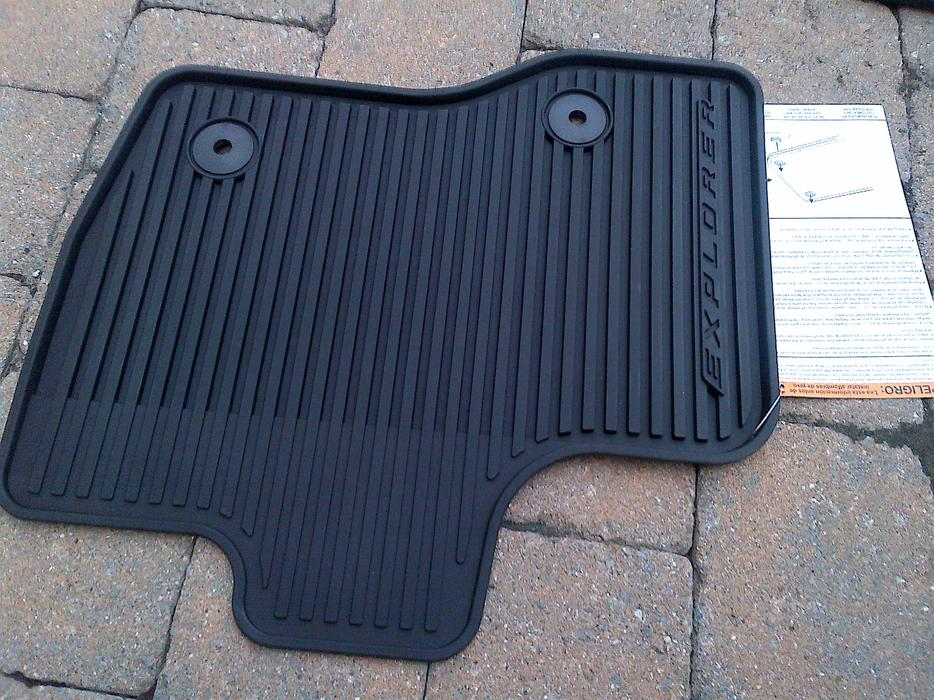 New 2011 2014 Ford Explorer All Weather Rubber Floor Mats