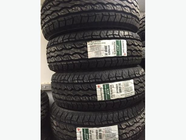 Four Brand NEW 275/65/R18 Kumho KL-61 All Terrain tires– Winter Approved