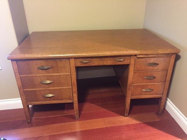 oak desk $200
