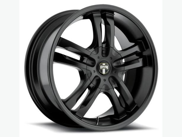 "NEW 22""DUB PHASE black wheels (5x120)-BMW/MDX/ZDX/Camaro/Pilot"
