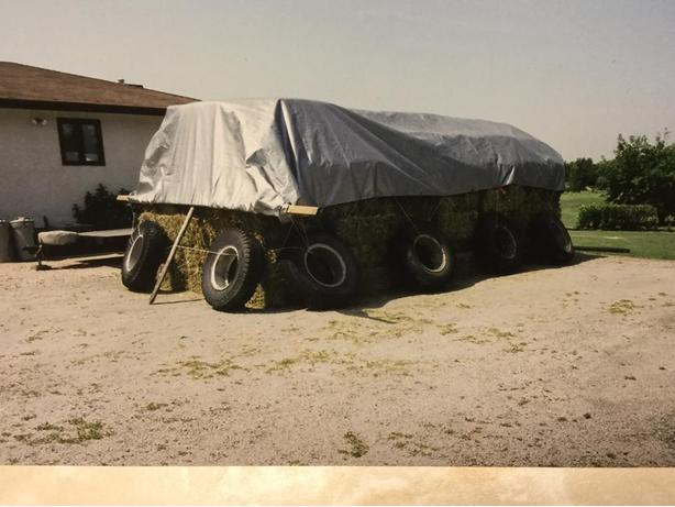 Heavy hay tarp made by winkler Canvas